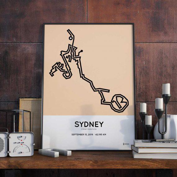 2019 Sydney Running Festival marathonermap