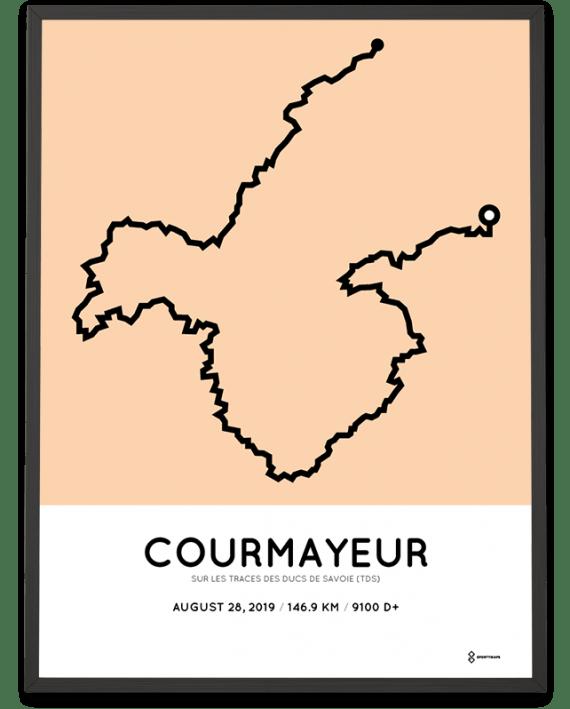2019 TDS course map sportymaps print