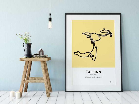2019 Tallinna Maraton course poster
