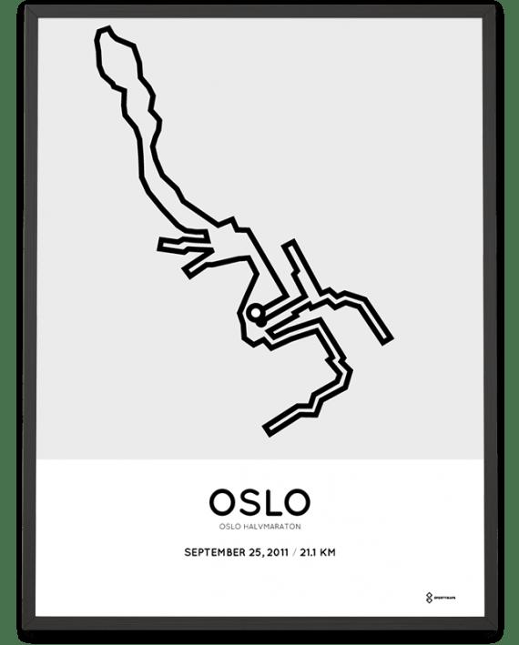 2011 Oslo half marathon parcours print