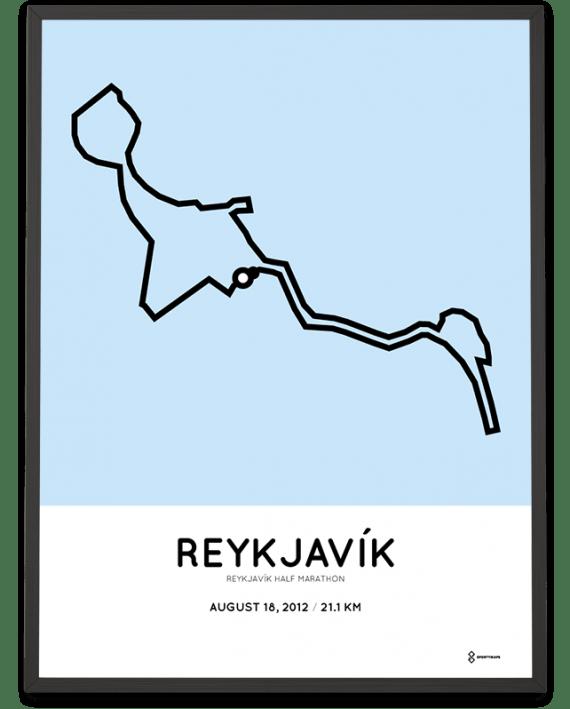 2012 Reykjavik half marathon course print