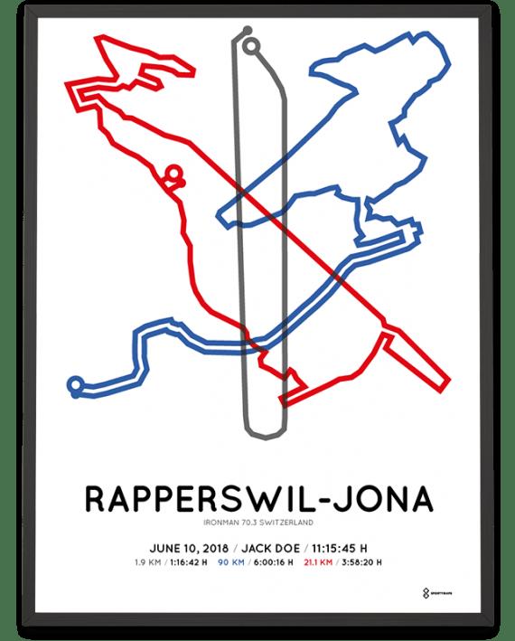 2018 ironman 70.3 Switzerland course poster