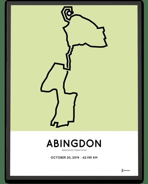2019 Abingdon marathon course poster