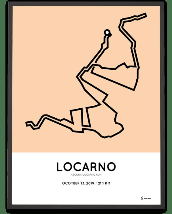 2019 Ascona-Locarno run percorso poster