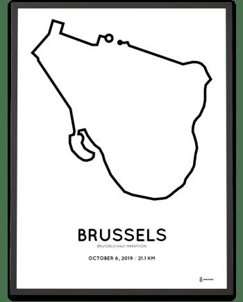 2019 Brussels half marathon course poster