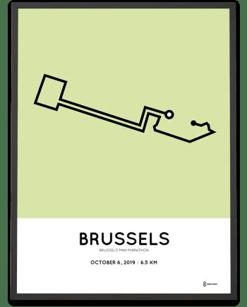 2019 Brussels-mini-marathon parcours print