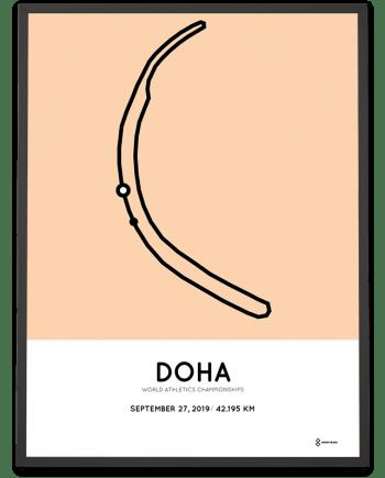 2019 Doha marathon World Championships course poster