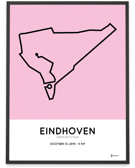 2019 Eindhoven City run 5km route poster