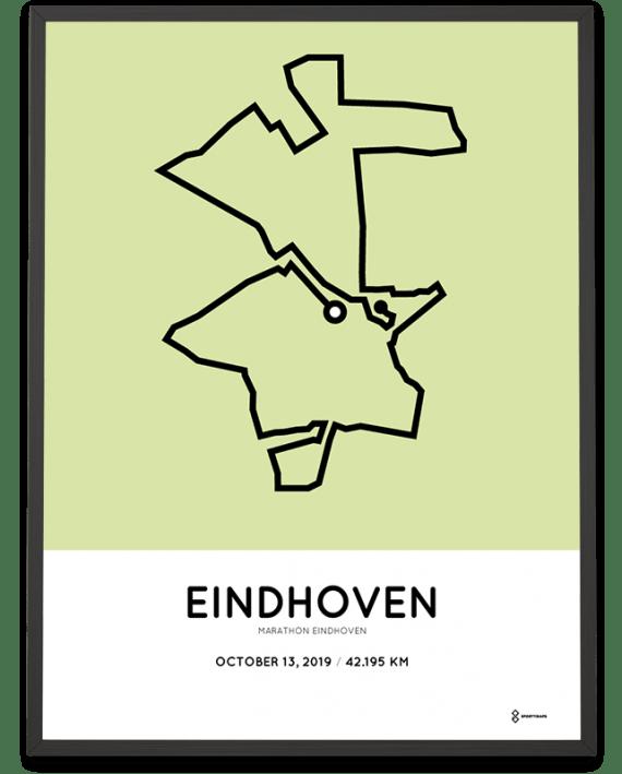 2019 Eindhoven marathon parcours poster