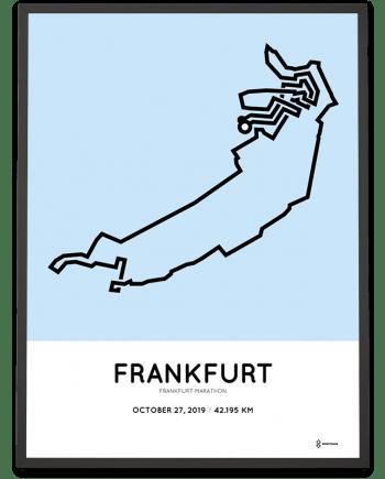 2019 Frankfurt marathon strecke sportymaps poster