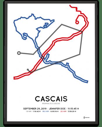 2019 Ironman 70.3 cascais course poster