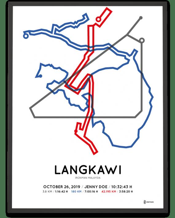 2019 Ironman Malaysia course poster