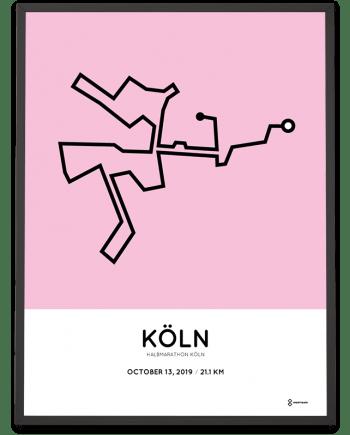 2019 Köln half marathon strecke poster