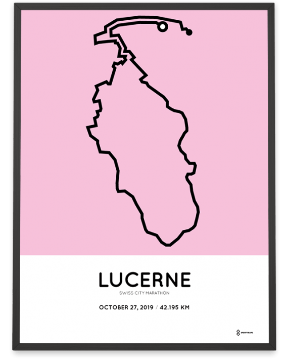 2019 Swiss City Lucerne marathon course poster