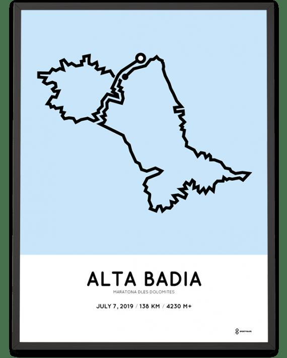 2019 Maratona Dles Dolomites parcours print