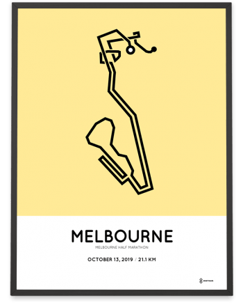 2019 Melbourne half marathon sportymaps print