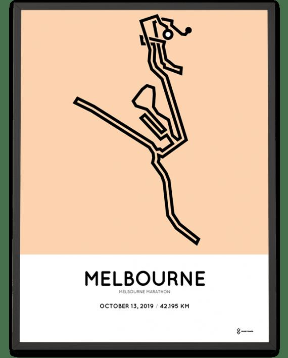2019 Melbourne marathonermap print