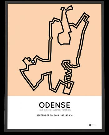 2019Hans Christian Andersen Odense rutekort poster