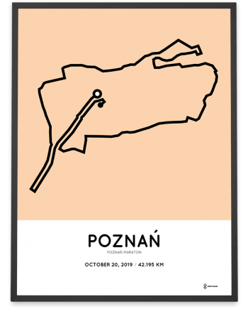 2019 Poznan maraton course poster