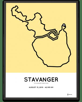 2019 Stavanger marathon course poster