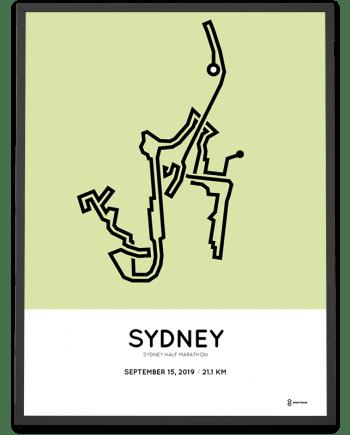 2019 Sydney half marathon course poster