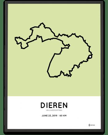 2019 Veluwezoomtrail 60km sportymaps route poster