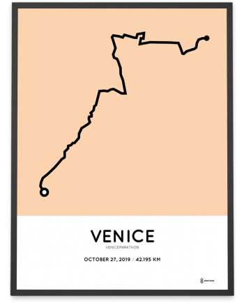 2019 Venicemarathon course poster