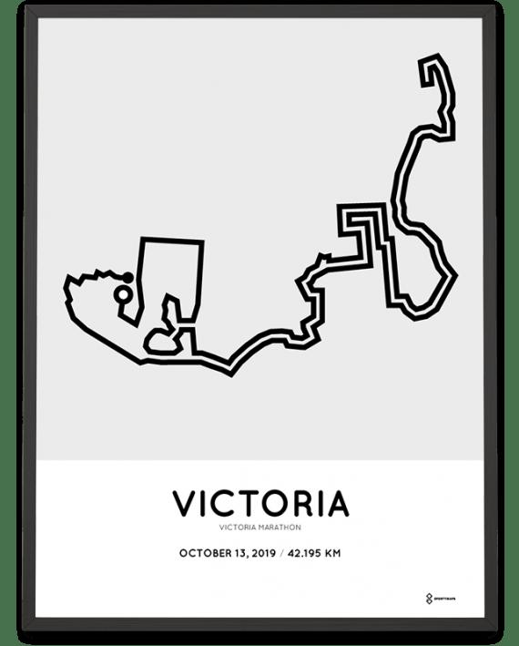 2019 Victoria marathon course poster