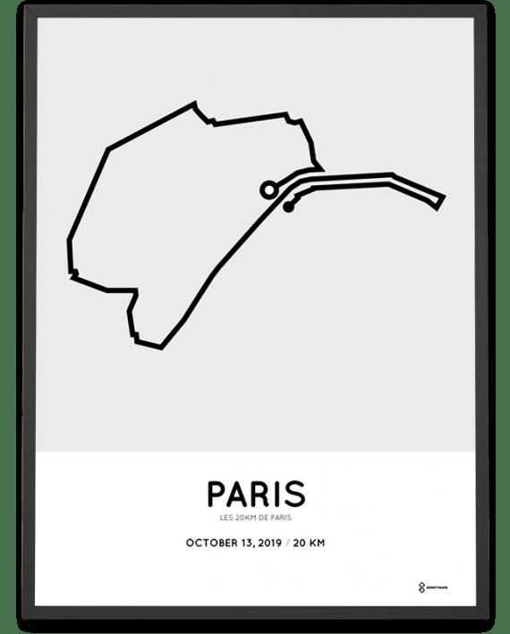 2019 les 20km de Paris parcours poster