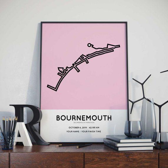 2019 Bournemouth marathon racetrace print