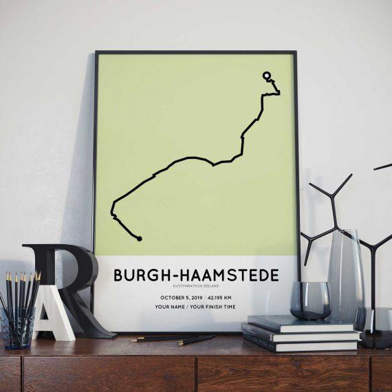 Kustmarathon Zeeland parcours poster
