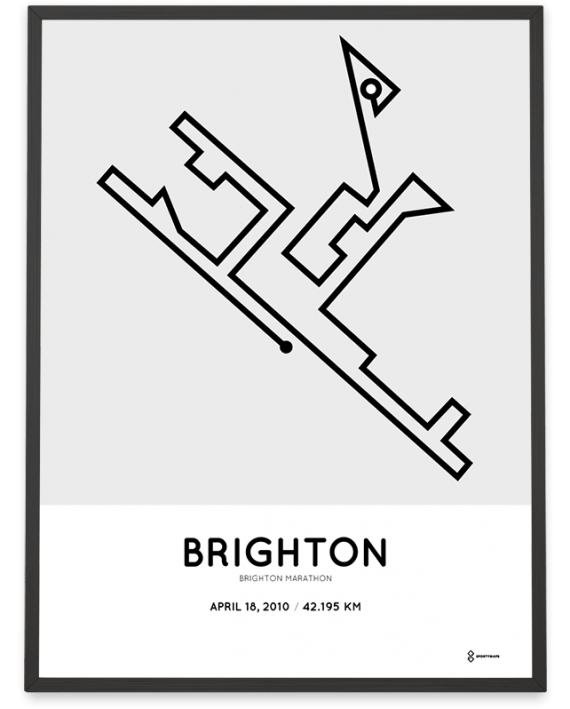 2010 Brighton marathon course poster