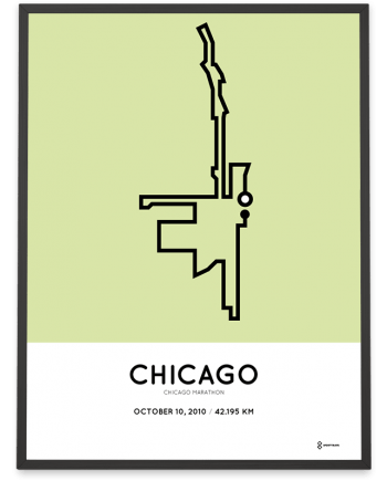2010 Chicago marathon course poster