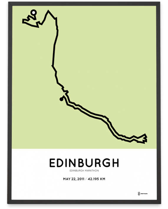 2011 Edinburgh marathon sportymaps course poster