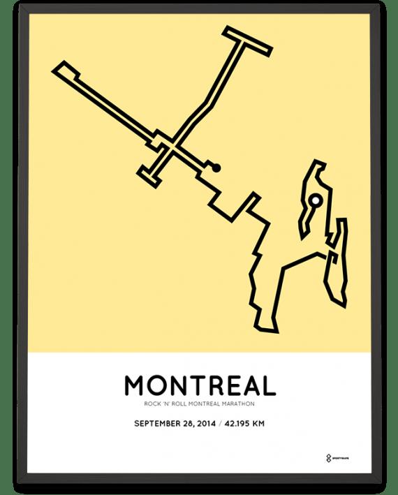 2014 Montreal marathon parcours print