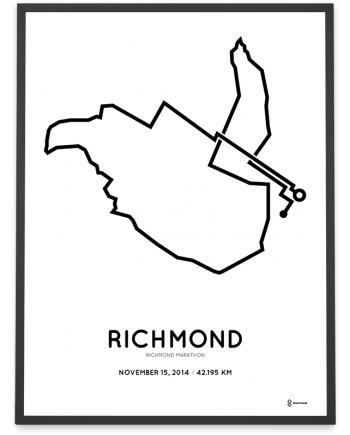 2014 Richmond marathon course poster