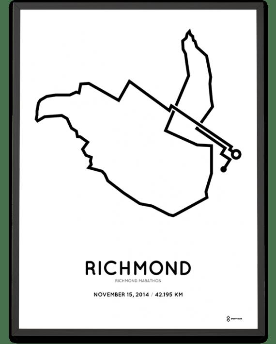 2014 Richmond marathon course poster