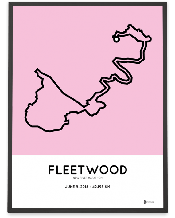 2018 New River Marathon course poster