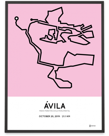 2019 Avila half marathon course poster