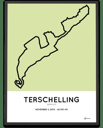 2019 Berenloop Terschelling marathon course poster