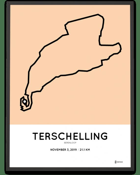 2019 Berenloop half marathon route poster