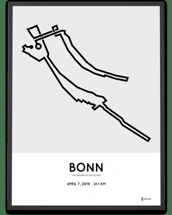 2019 Halbmarathon Bonn sportymaps course poster