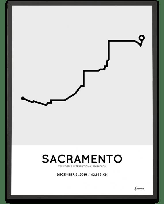 2019 CIM Sacramento marathon course poster
