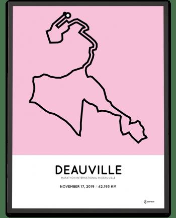 2019 Deauville marathon parcours sportymaps poster