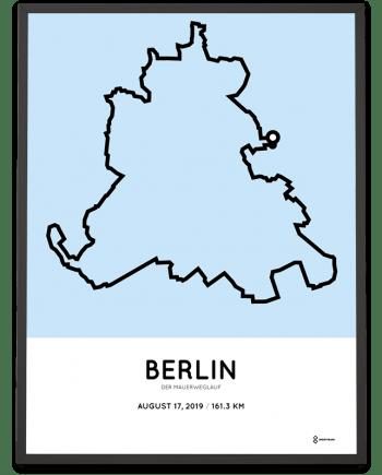 2019 Der MauerWegLauf 100 meilen Berlin strecke poster