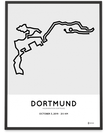2019 Dortmund half marathon route poster