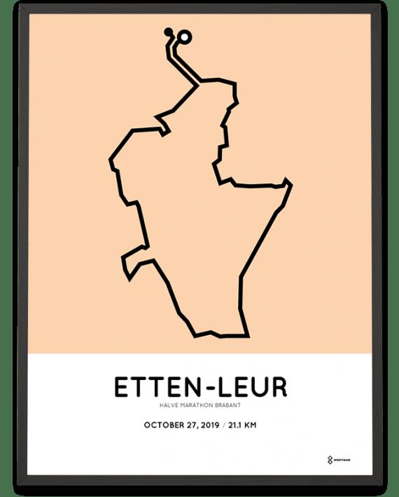 2019 Etten-Leur halve marathon Brabant route print
