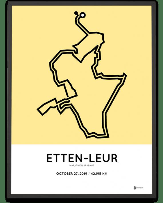2019 Etten-Leur marathon brabant parcours poster