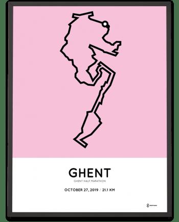2019 Ghent half marathon course poster