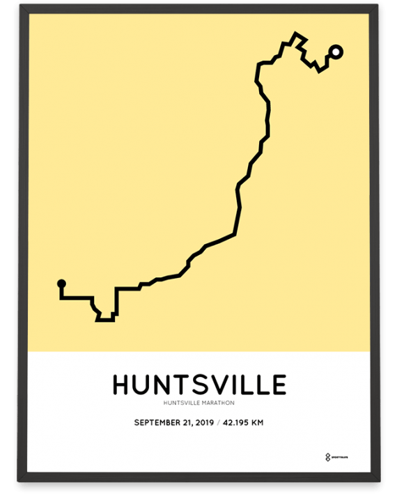 2019 Huntsville marathon parcours poster